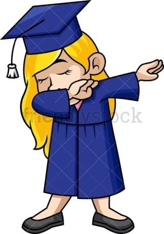 Female graduate doing the dab. PNG - JPG and vector EPS file formats (infinitely scalable). Image isolated on transparent background.