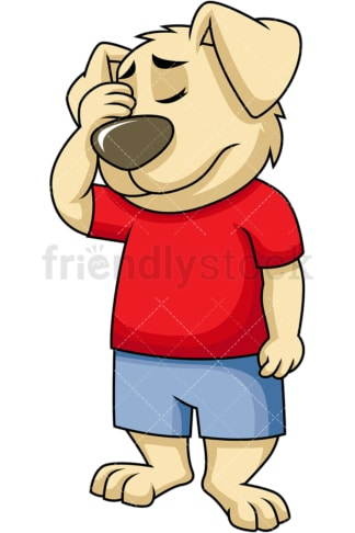 Dog mascot facepalm. PNG - JPG and vector EPS (infinitely scalable). Image isolated on transparent background.