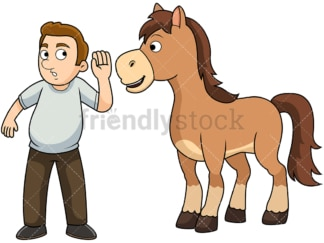 Hearing it straight from the horse's mouth. PNG - JPG and vector EPS file formats (infinitely scalable). Image isolated on transparent background.