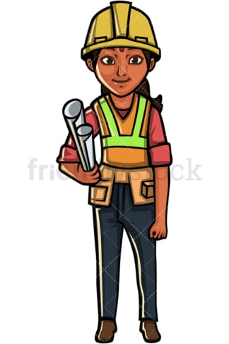 Indian woman architect. PNG - JPG and vector EPS file formats (infinitely scalable). Image isolated on transparent background.