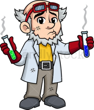 Crazy scientist explosion. PNG - JPG and vector EPS (infinitely scalable). Image isolated on transparent background.