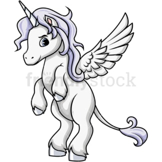 Winged pegasus. PNG - JPG and vector EPS (infinitely scalable). Image isolated on transparent background.