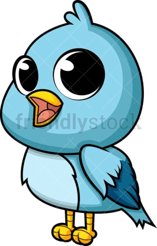 Adorable baby bird. PNG - JPG and vector EPS (infinitely scalable). Image isolated on transparent background.