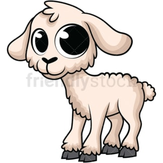 Adorable baby lamb. PNG - JPG and vector EPS (infinitely scalable). Image isolated on transparent background.
