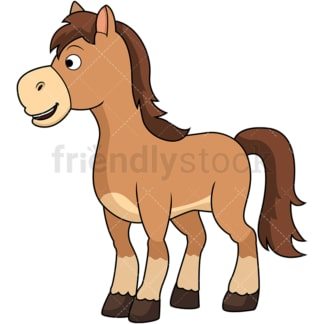 Cute horse. PNG - JPG and vector EPS file formats (infinitely scalable). Image isolated on transparent background.