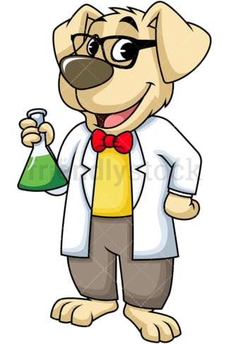 Dog scientist. PNG - JPG and vector EPS (infinitely scalable). Image isolated on transparent background.