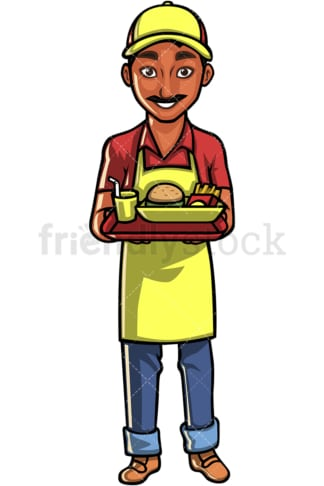 Indian waiter. PNG - JPG and vector EPS file formats (infinitely scalable). Image isolated on transparent background.