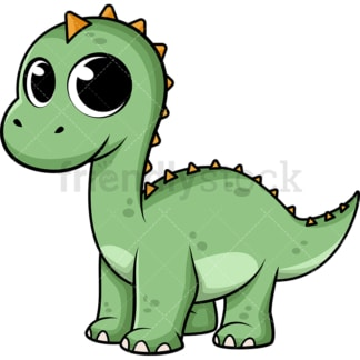 Adorable baby dinosaur. PNG - JPG and vector EPS (infinitely scalable). Image isolated on transparent background.
