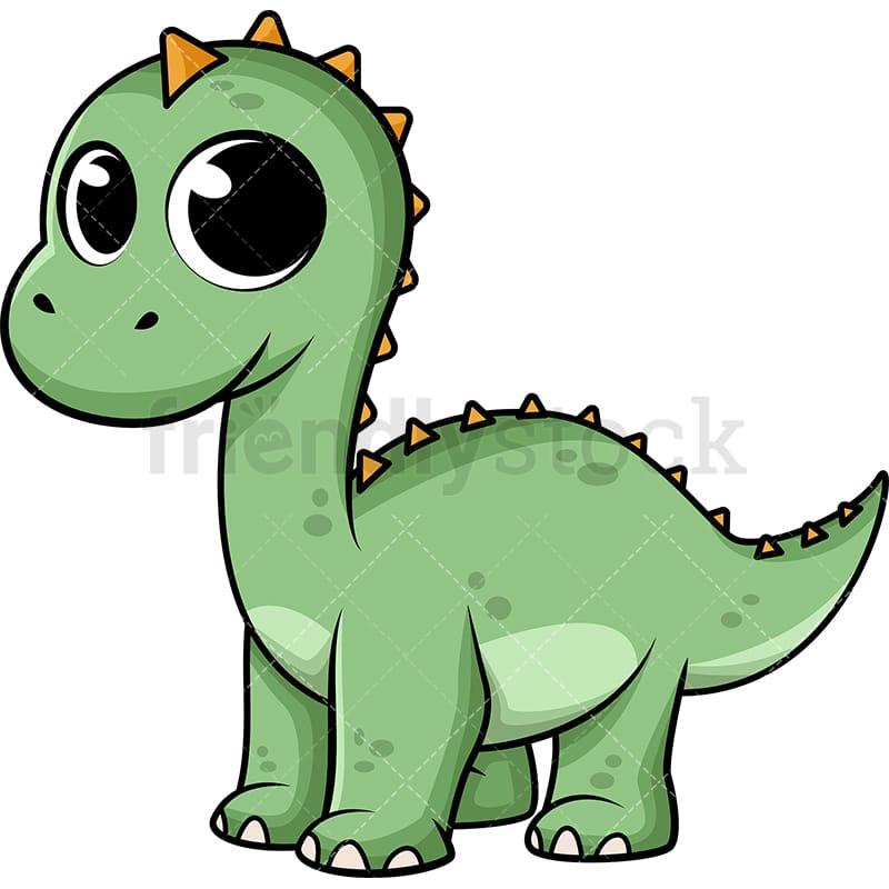 Cute Baby Dinosaur Cartoon Vector Clipart - FriendlyStock