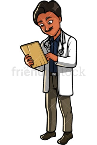Indian medical professional. PNG - JPG and vector EPS file formats (infinitely scalable). Image isolated on transparent background.
