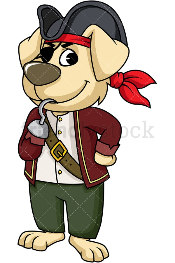 Dog character pirate. PNG - JPG and vector EPS (infinitely scalable). Image isolated on transparent background.