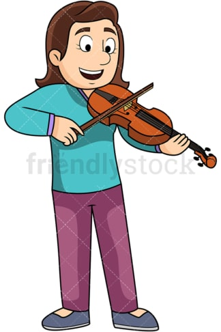 Woman playing the violin. PNG - JPG and vector EPS file formats (infinitely scalable). Image isolated on transparent background.