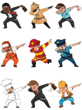 Humans dabbing. PNG - JPG and vector EPS file formats (infinitely scalable). Image isolated on transparent background.