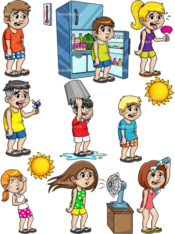 People during summer. PNG - JPG and vector EPS file formats (infinitely scalable).