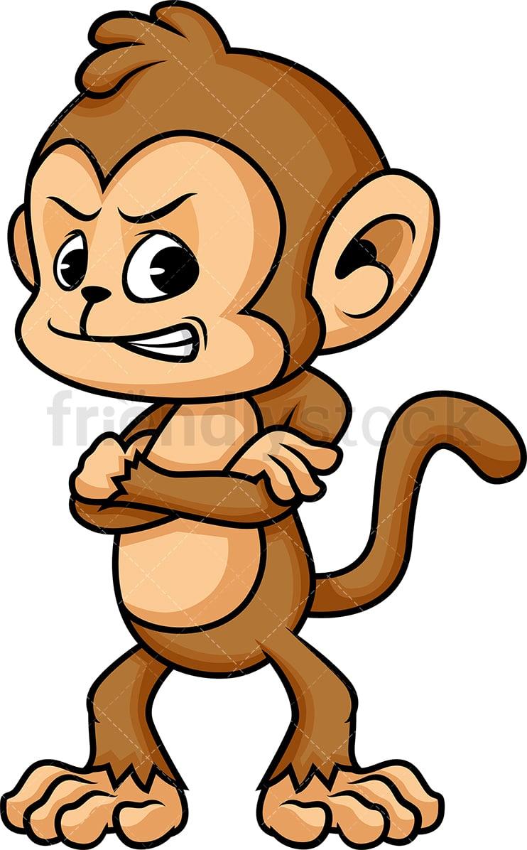Angry Monkey Cartoon Vector Clipart - FriendlyStock