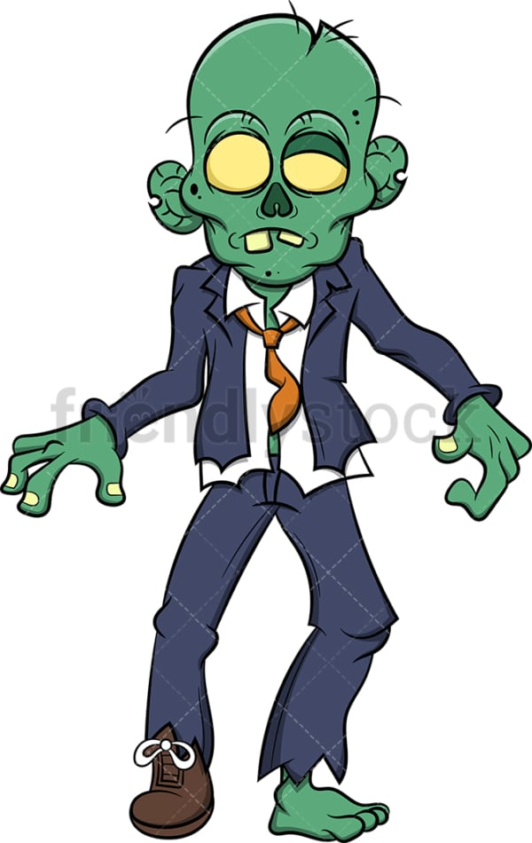 Zombie businessman. PNG - JPG and vector EPS (infinitely scalable). Image isolated on transparent background.