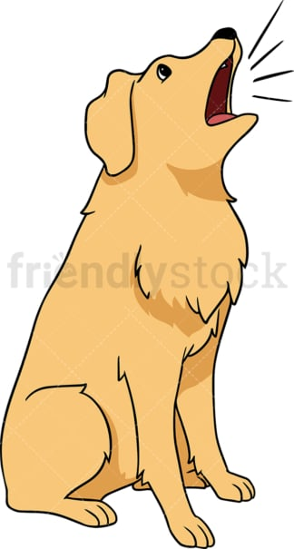 Golden retriever dog barks. PNG - JPG and vector EPS (infinitely scalable).