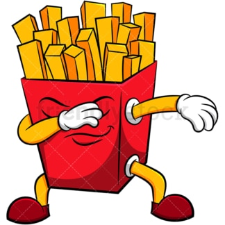 French fries doing the dab. PNG - JPG and vector EPS (infinitely scalable). Image isolated on transparent background.