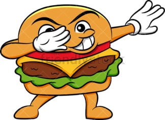 Hamburger doing the dab. PNG - JPG and vector EPS (infinitely scalable). Image isolated on transparent background.