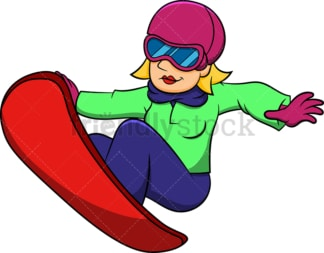 Woman snowboarder jumping. PNG - JPG and vector EPS file formats (infinitely scalable). Image isolated on transparent background.