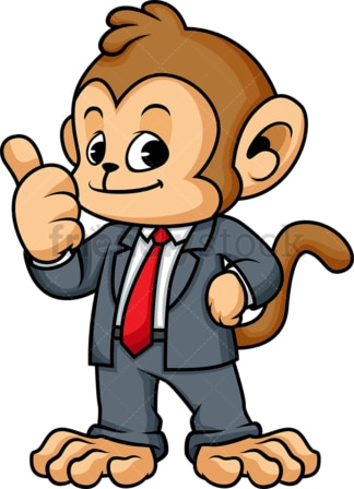 Monkey business cartoon. PNG - JPG and vector EPS (infinitely scalable).