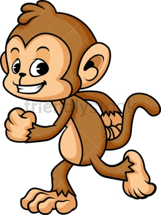 Monkey cartoon jogging. PNG - JPG and vector EPS (infinitely scalable)