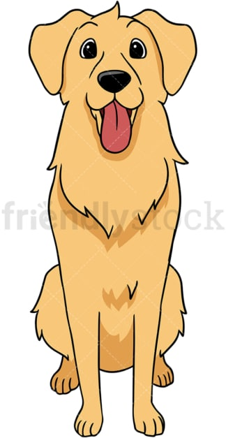 Golden retriever dog feeding. PNG - JPG and vector EPS (infinitely scalable).