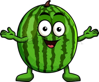 Happy watermelon character. PNG - JPG and vector EPS (infinitely scalable). Image isolated on transparent background.