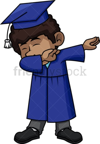 African-American male graduate doing the dab. PNG - JPG and vector EPS file formats (infinitely scalable).