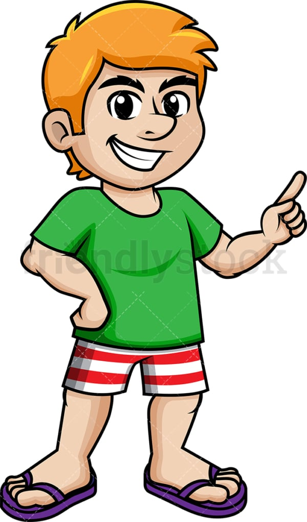 Relaxed man dressed for summer. PNG - JPG and vector EPS (infinitely scalable).