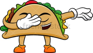 Taco doing the dab. PNG - JPG and vector EPS (infinitely scalable). Image isolated on transparent background.