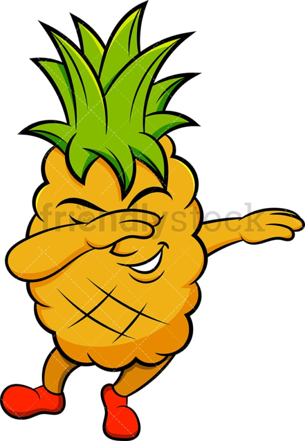 Pineapple doing the dab. PNG - JPG and vector EPS (infinitely scalable). Image isolated on transparent background.