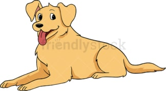 Golden retriever dog jumping as it runs. PNG - JPG and vector EPS (infinitely scalable).