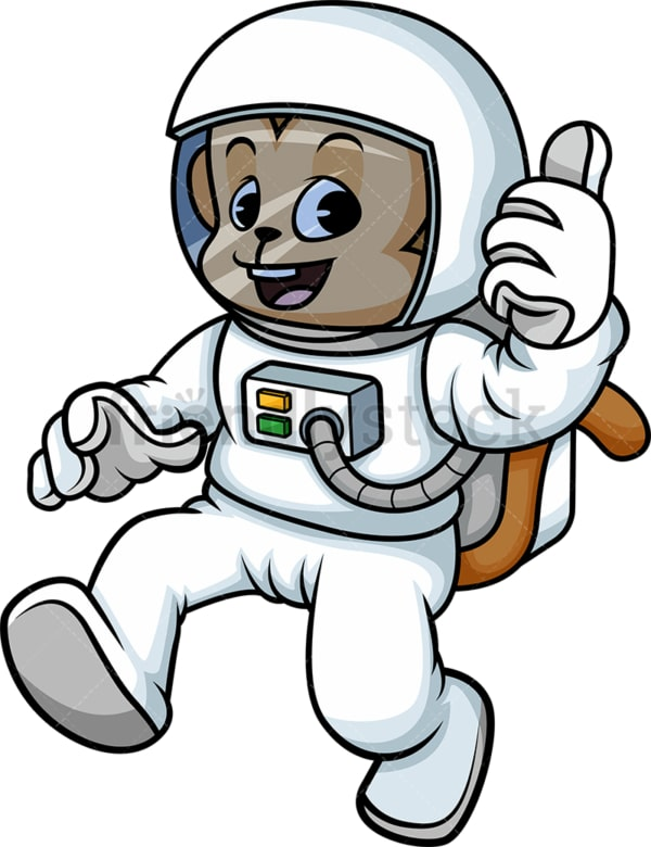 Astronaut monkey cartoon. PNG - JPG and vector EPS (infinitely scalable).