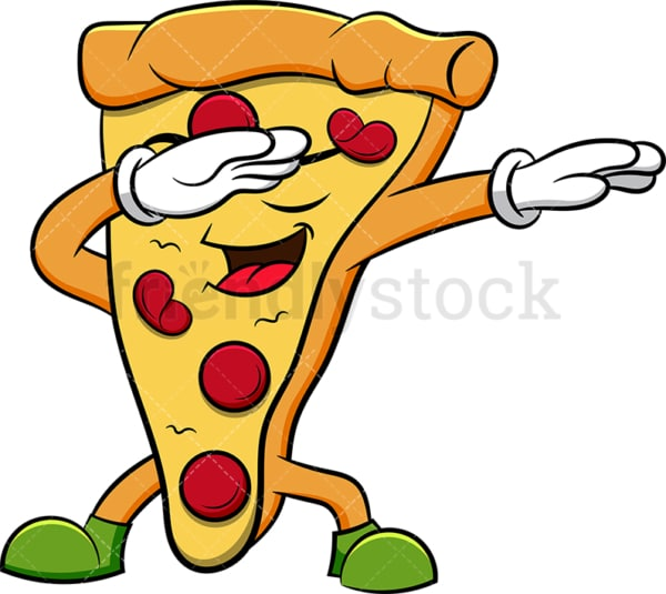 Pizza slice doing the dab. PNG - JPG and vector EPS (infinitely scalable). Image isolated on transparent background.