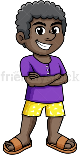 African-American man dressed for summer. PNG - JPG and vector EPS (infinitely scalable).