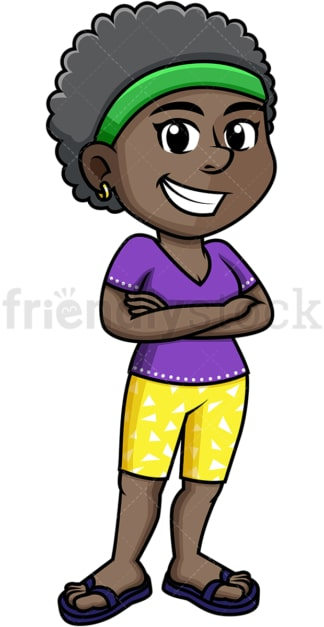 African-American girl dressed for summer. PNG - JPG and vector EPS (infinitely scalable).