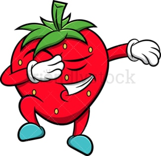 Strawberry doing the dab. PNG - JPG and vector EPS (infinitely scalable). Image isolated on transparent background.