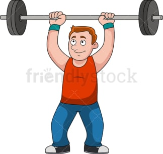 Man lifting weights for exercise. PNG - JPG and vector EPS file formats (infinitely scalable).