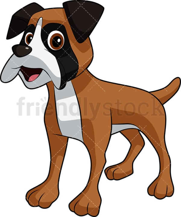 Standing boxer dog. PNG - JPG and vector EPS (infinitely scalable). Image isolated on transparent background.