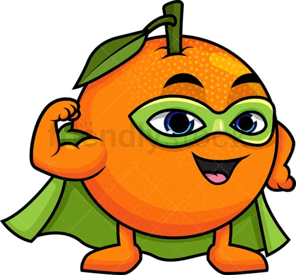 Superhero orange cartoon character. PNG - JPG and vector EPS (infinitely scalable).