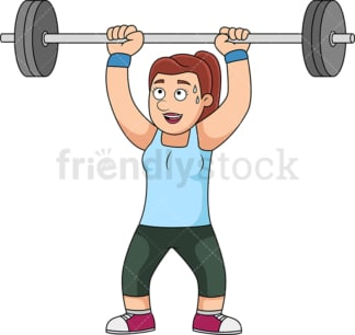 Woman lifting weights for exercise. PNG - JPG and vector EPS file formats (infinitely scalable).