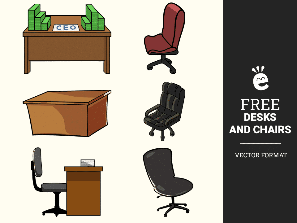 Desks And Chairs - Free Vector Graphics