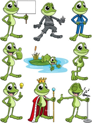 Frog cartoon. Transparent PNG