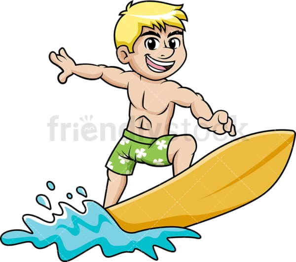 Man on a surfboard during summer. PNG - JPG and vector EPS file formats.