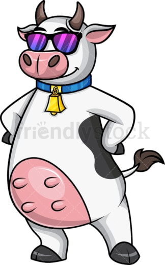 Cool cow mascot wearing sunglasses. PNG - JPG and vector EPS file formats.