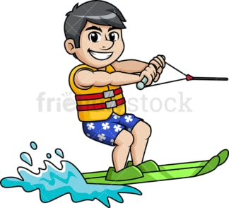 Water skier on summer vacation. PNG - JPG and vector EPS file formats.