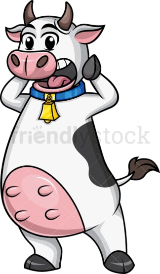 Cow mascot in shock. PNG - JPG and vector EPS file formats.