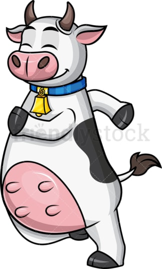 Cow mascot jogging. PNG - JPG and vector EPS file formats.