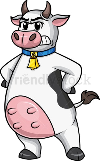 Angry cow mascot. PNG - JPG and vector EPS file formats.